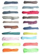 BRITISH QUALITY Thin Round Shoe Laces 75cm long Choice of Colours